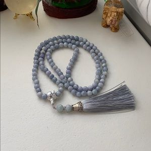 Pure natural jade stone Male necklace handmade